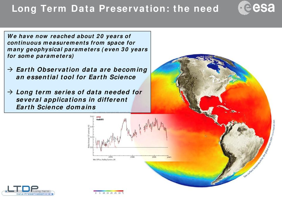 parameters) Earth Observation data are becoming an essential tool for Earth Science