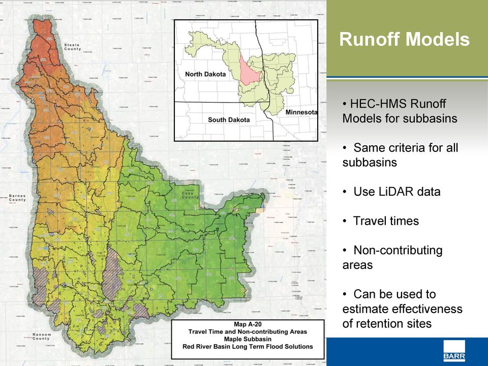 LiDAR data Travel times Non-contributing areas
