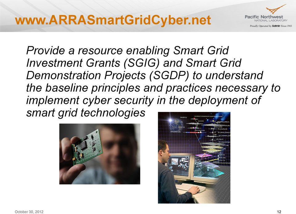 and Smart Grid Demonstration Projects (SGDP) to understand the