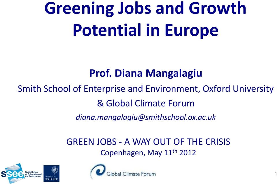 Oxford University & Global Climate Forum diana.