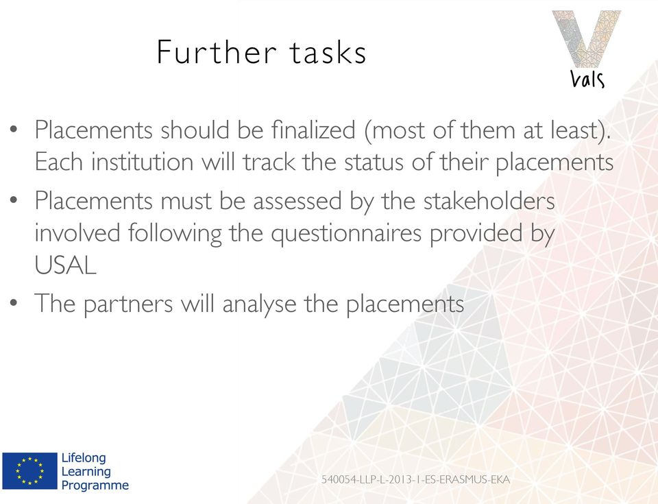 Each institution will track the status of their placements