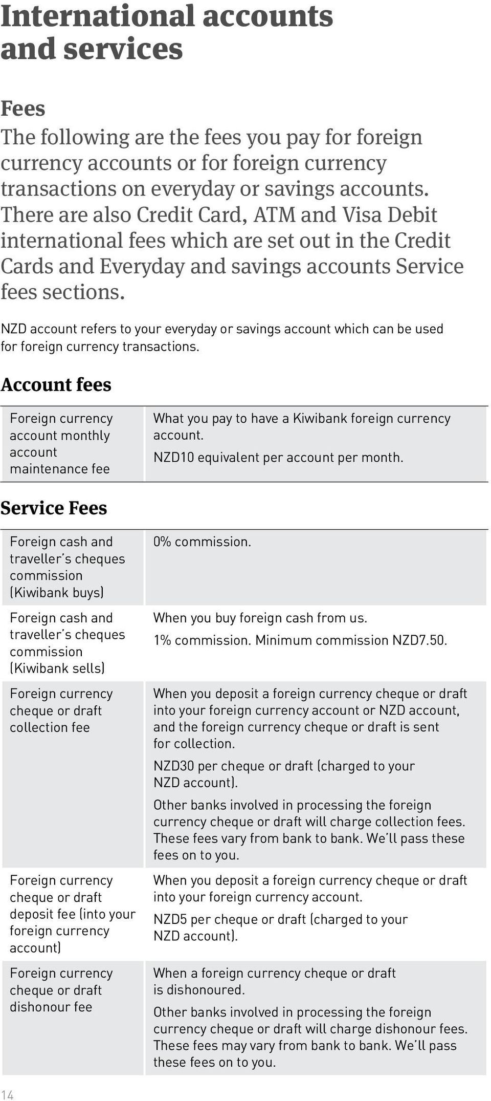 NZD account refers to your everyday or savings account which can be used for foreign currency transactions.