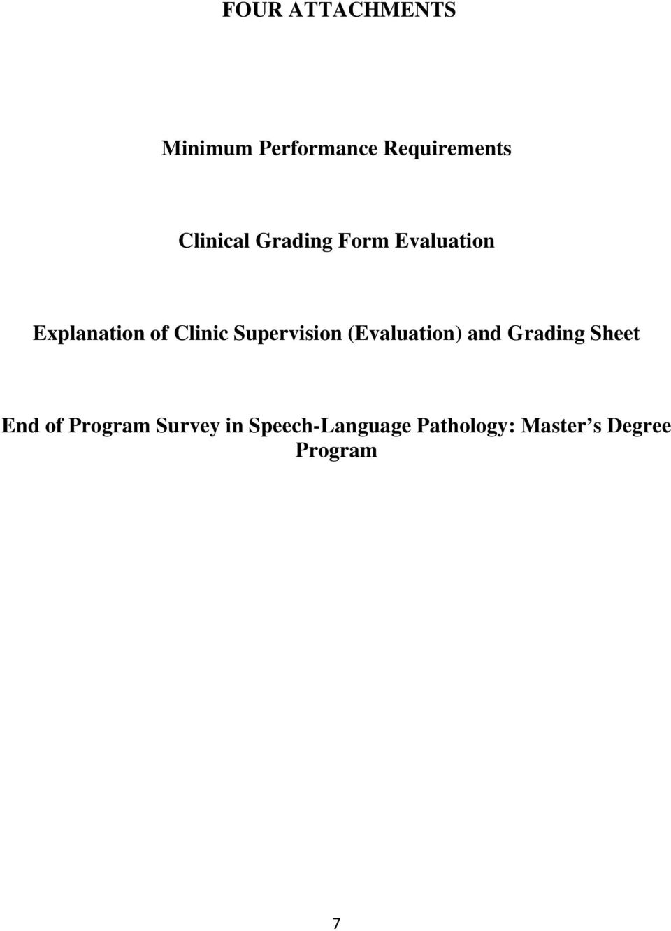 Supervision (Evaluation) and Grading Sheet End of