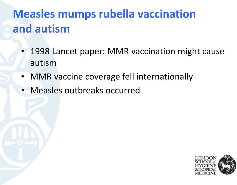 might cause autism MMR vaccine coverage