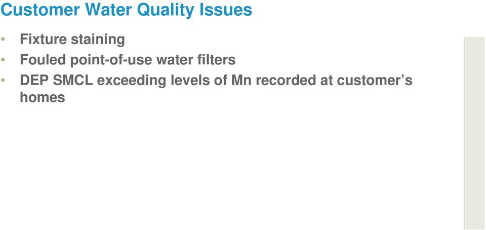 point-of-use water filters DEP SMCL