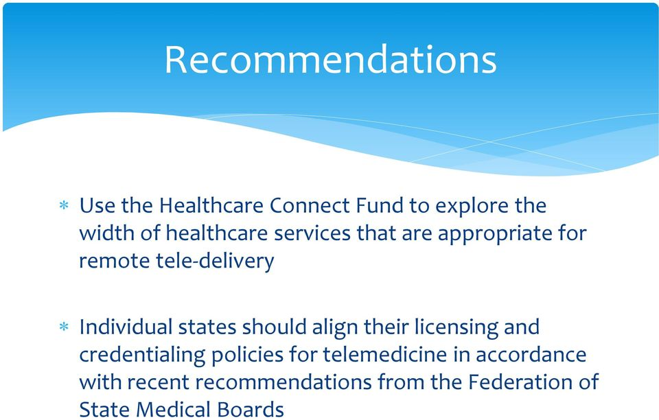 states should align their licensing and credentialing policies for