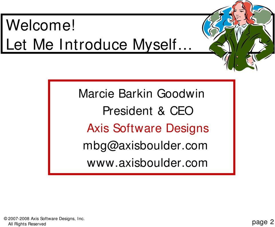 Goodwin President & CEO Axis Software