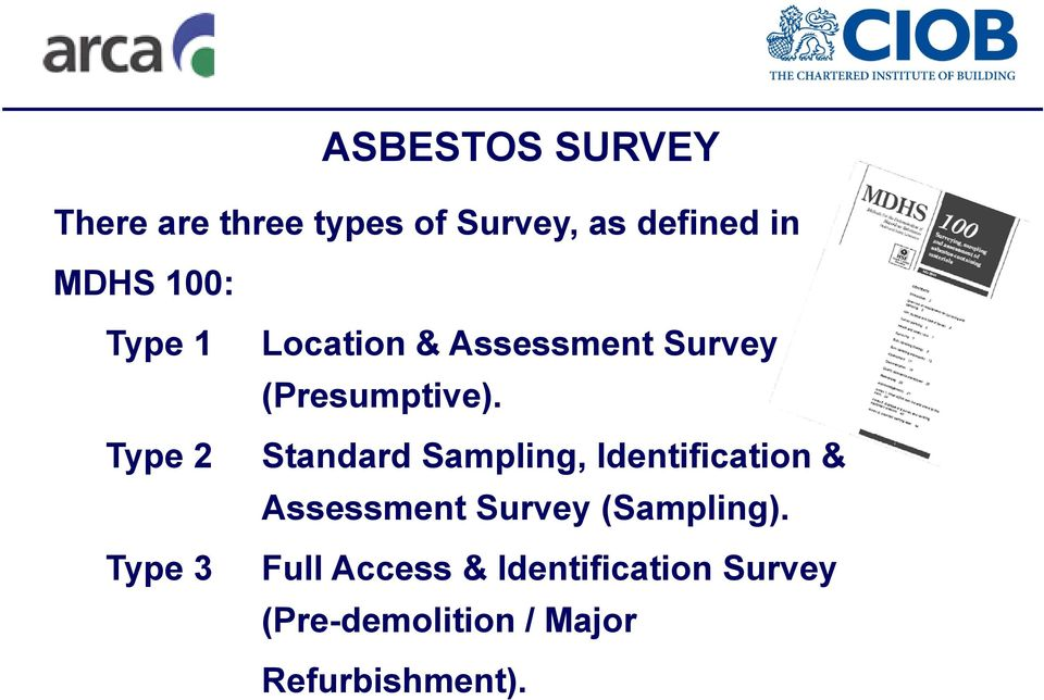Standard Sampling, Identification & Assessment Survey (Sampling).