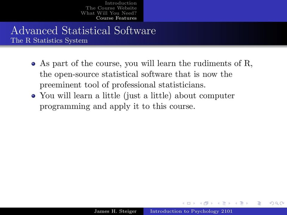 is now the preeminent tool of professional statisticians.