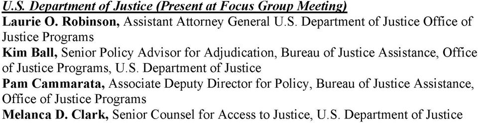 Assistance, Office of Justice Programs, U.S.