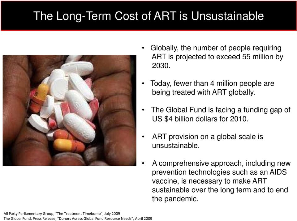 ART provision on a global scale is unsustainable.