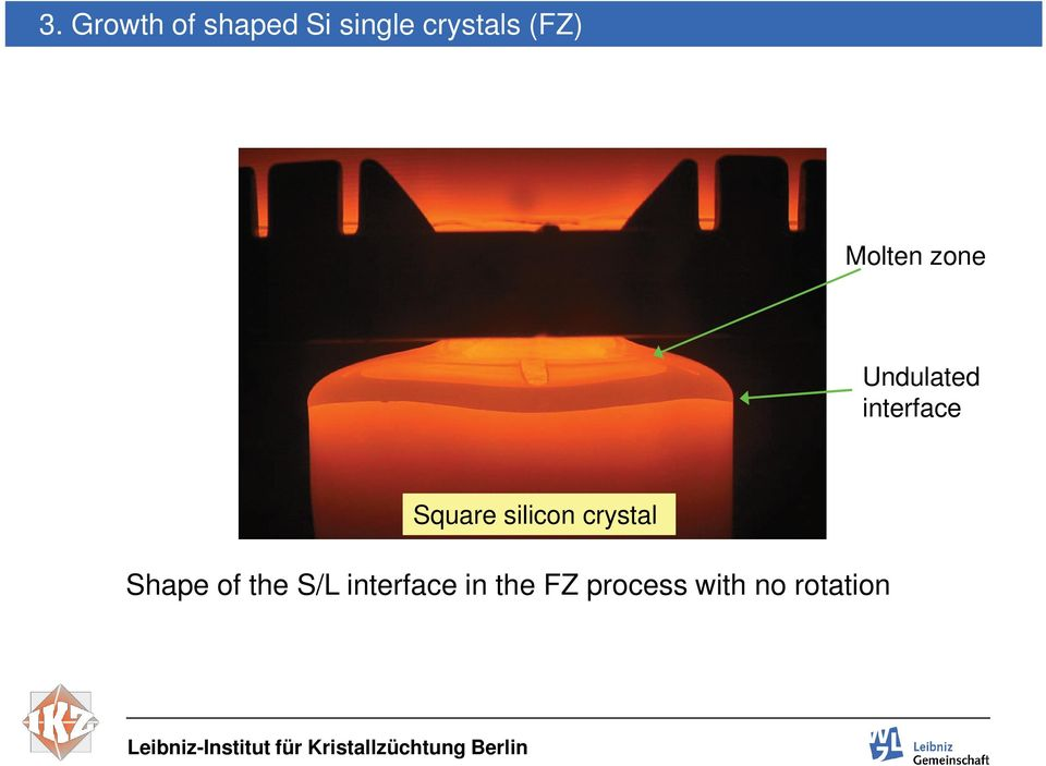 Square silicon crystal Shape of the S/L