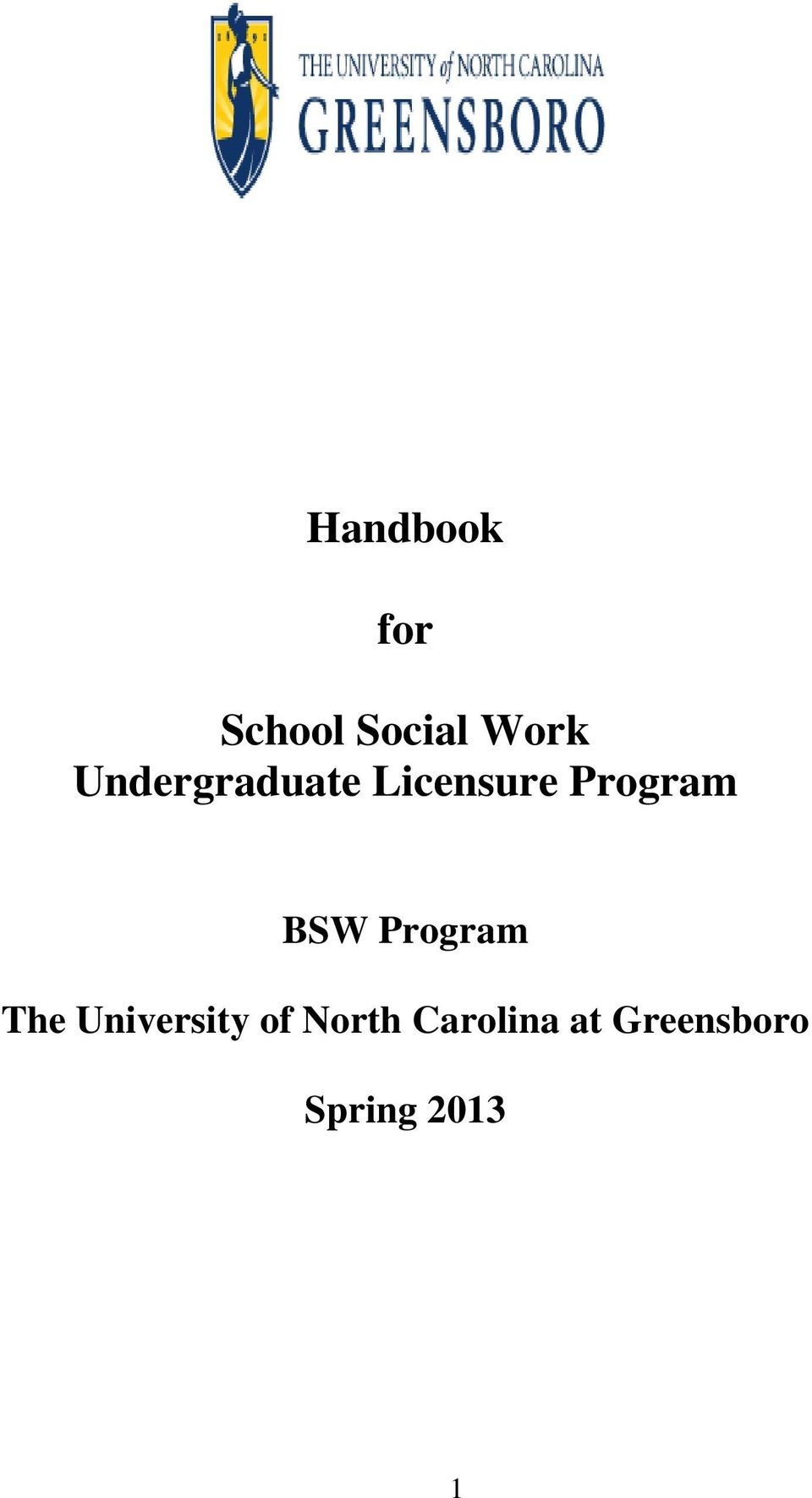 BSW Program The University of