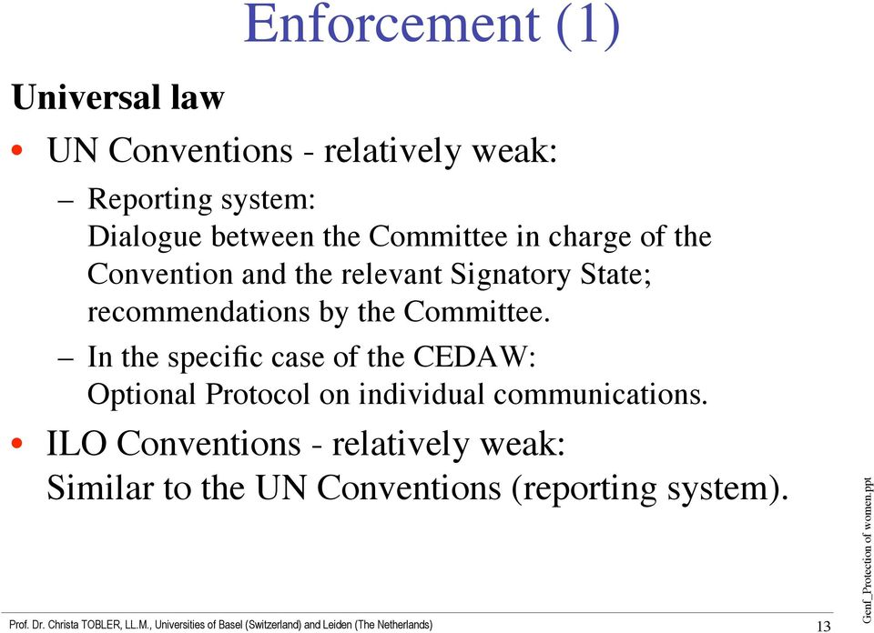 recommendations by the Committee.