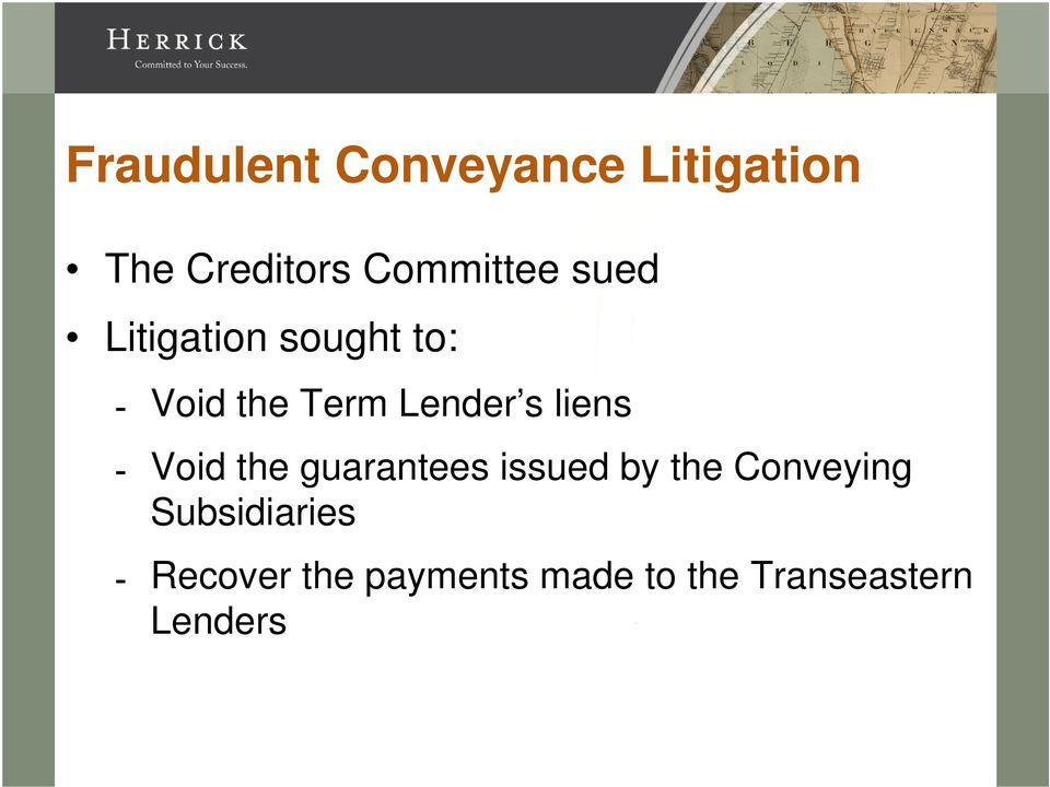 Lender s liens Void the guarantees issued by the
