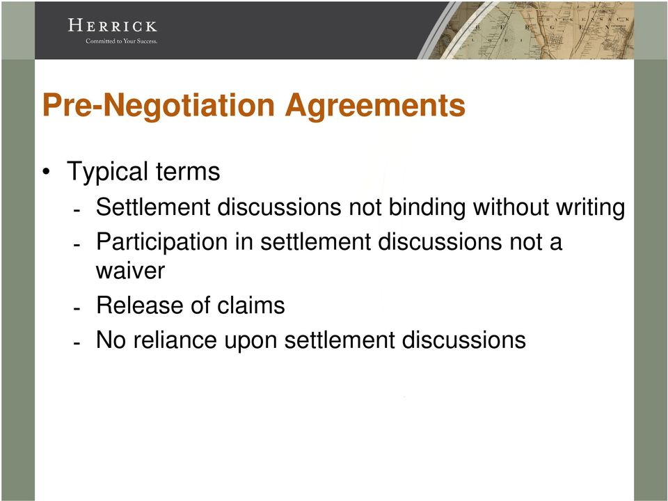 Participation in settlement discussions not a