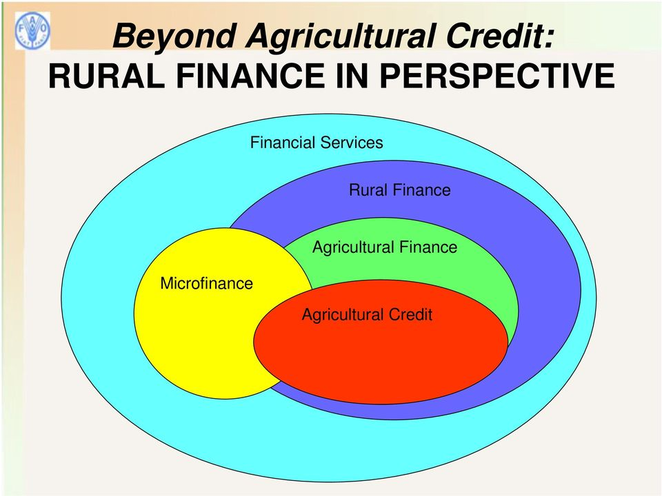 Services Rural Finance Agricultural