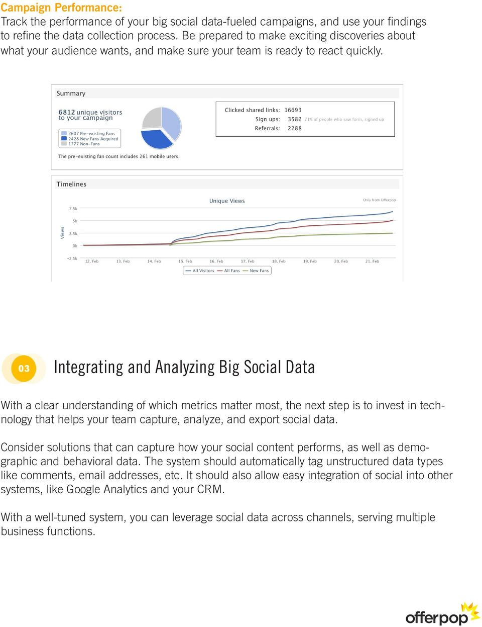 Integrating and Analyzing Big Social Data With a clear understanding of which metrics matter most, the next step is to invest in technology that helps your team capture, analyze, and export social