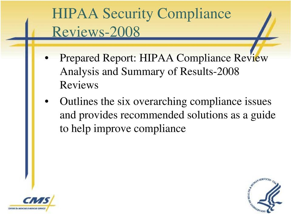 the six overarching compliance issues and provides