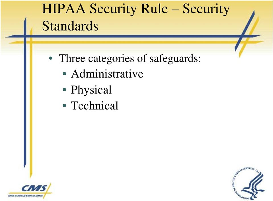 categories of safeguards:
