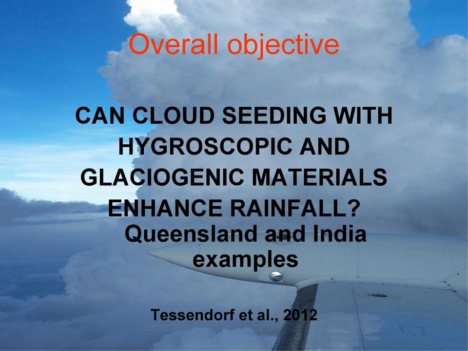 MATERIALS ENHANCE RAINFALL?