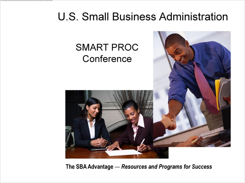 Conference The SBA