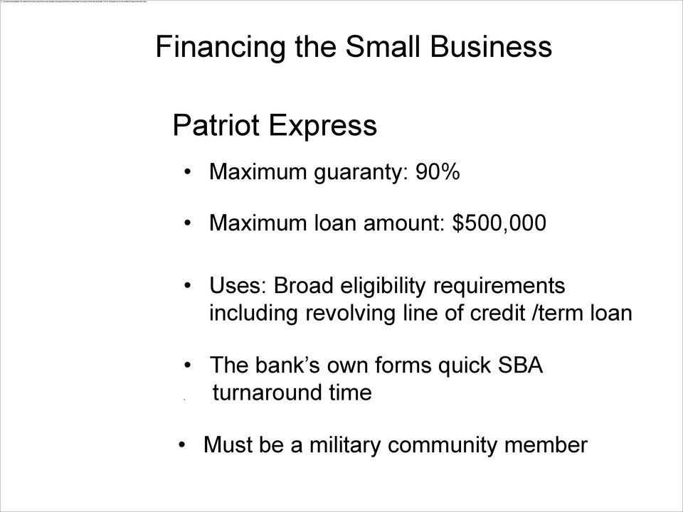 revolving line of credit /term loan The bank s own forms