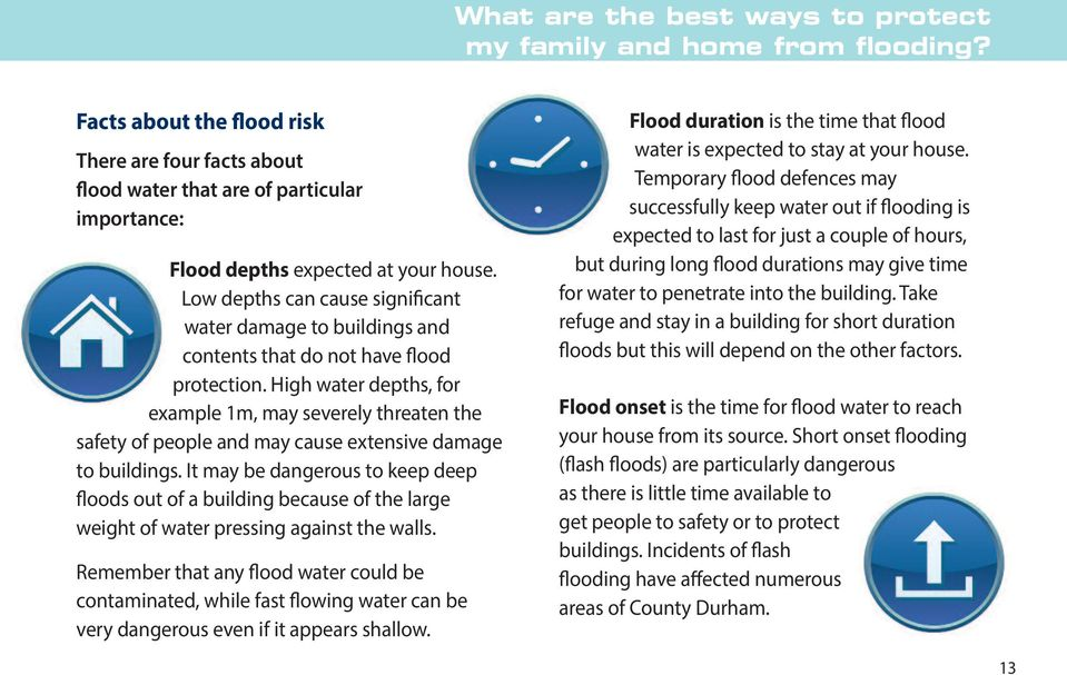 Low depths can cause significant water damage to buildings and contents that do not have flood protection.