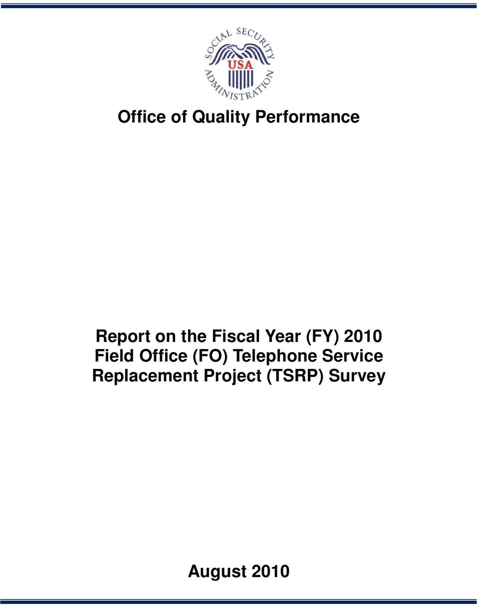 Office (FO) Telephone Service