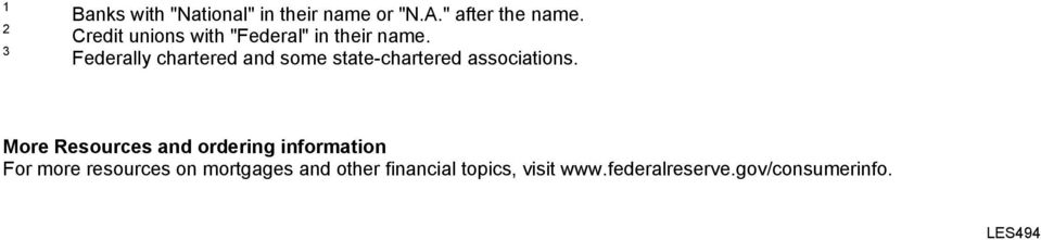 Federally chartered and some state-chartered associations.