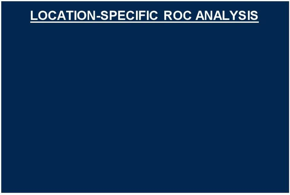 "ANALYSIS ROC: Scores Location-specific ROC: (Mark, Score) pair LROC, AFROC, FROC, EFROC FROC data Exponential transform EFROC curve Area under EFROC* *LM Popescu, ""Nonparametric signal detectability"
