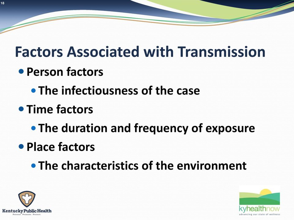 factors The duration and frequency of exposure