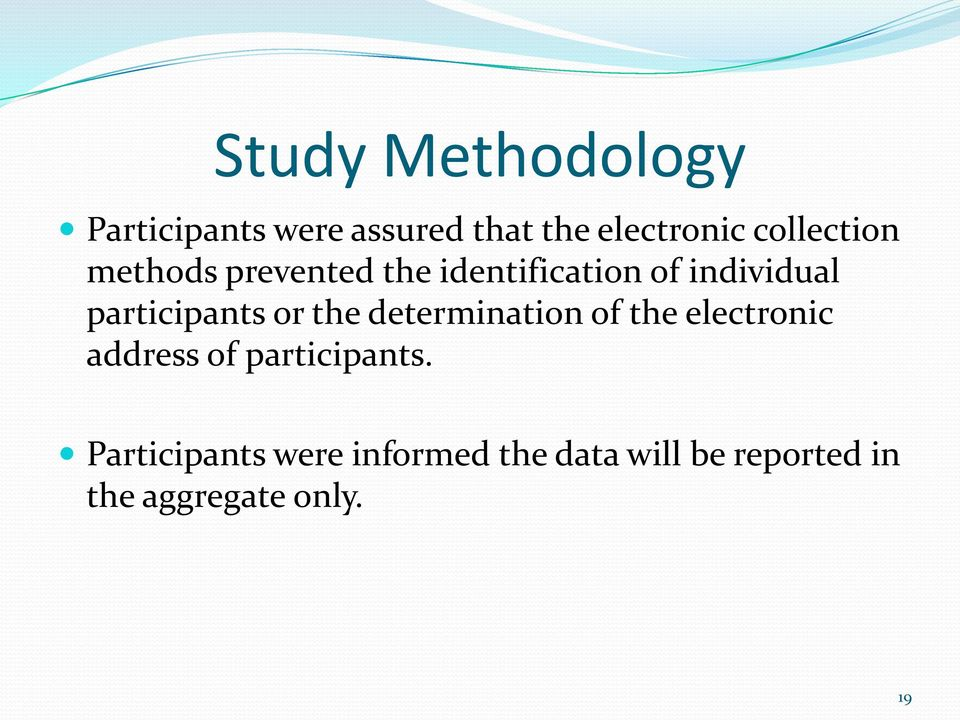 participants or the determination of the electronic address of