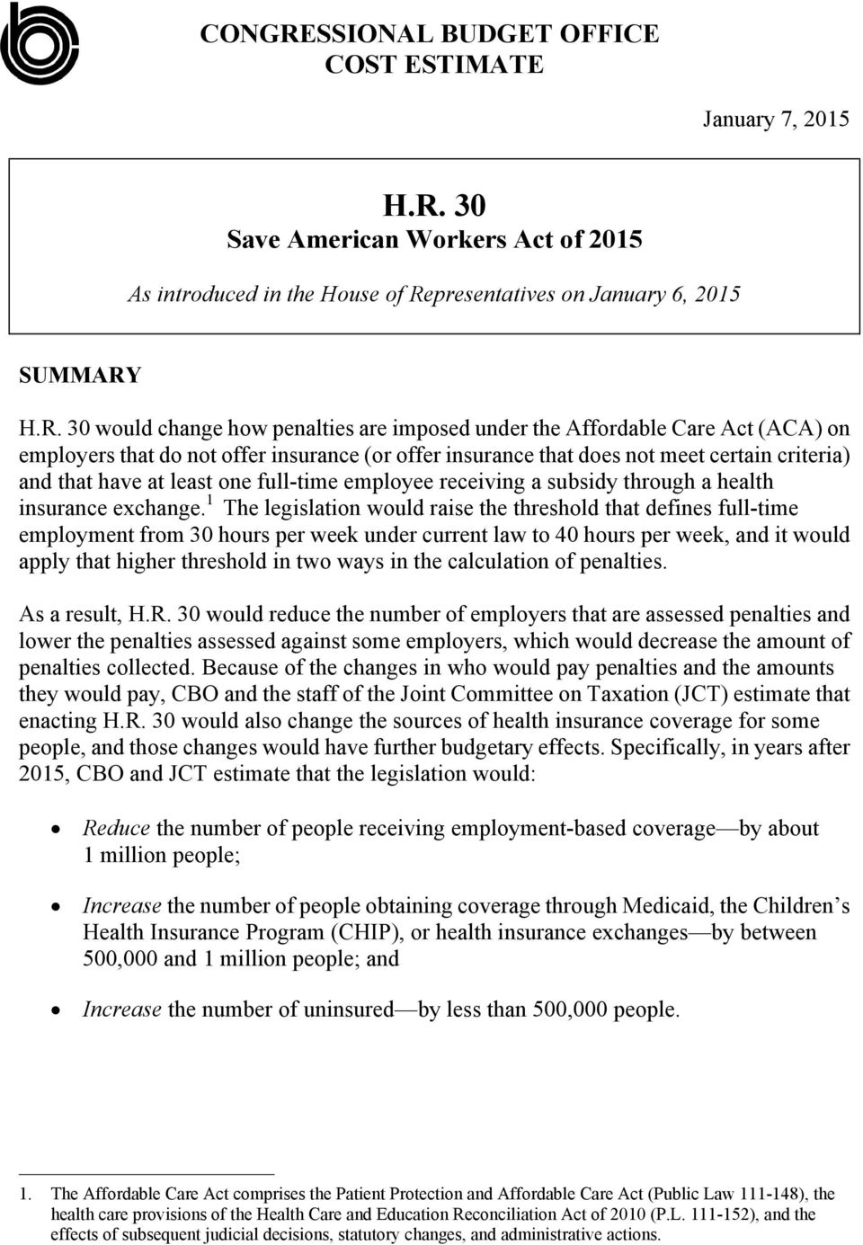 30 Save American Workers Act of 2015 As introduced in the House of Re