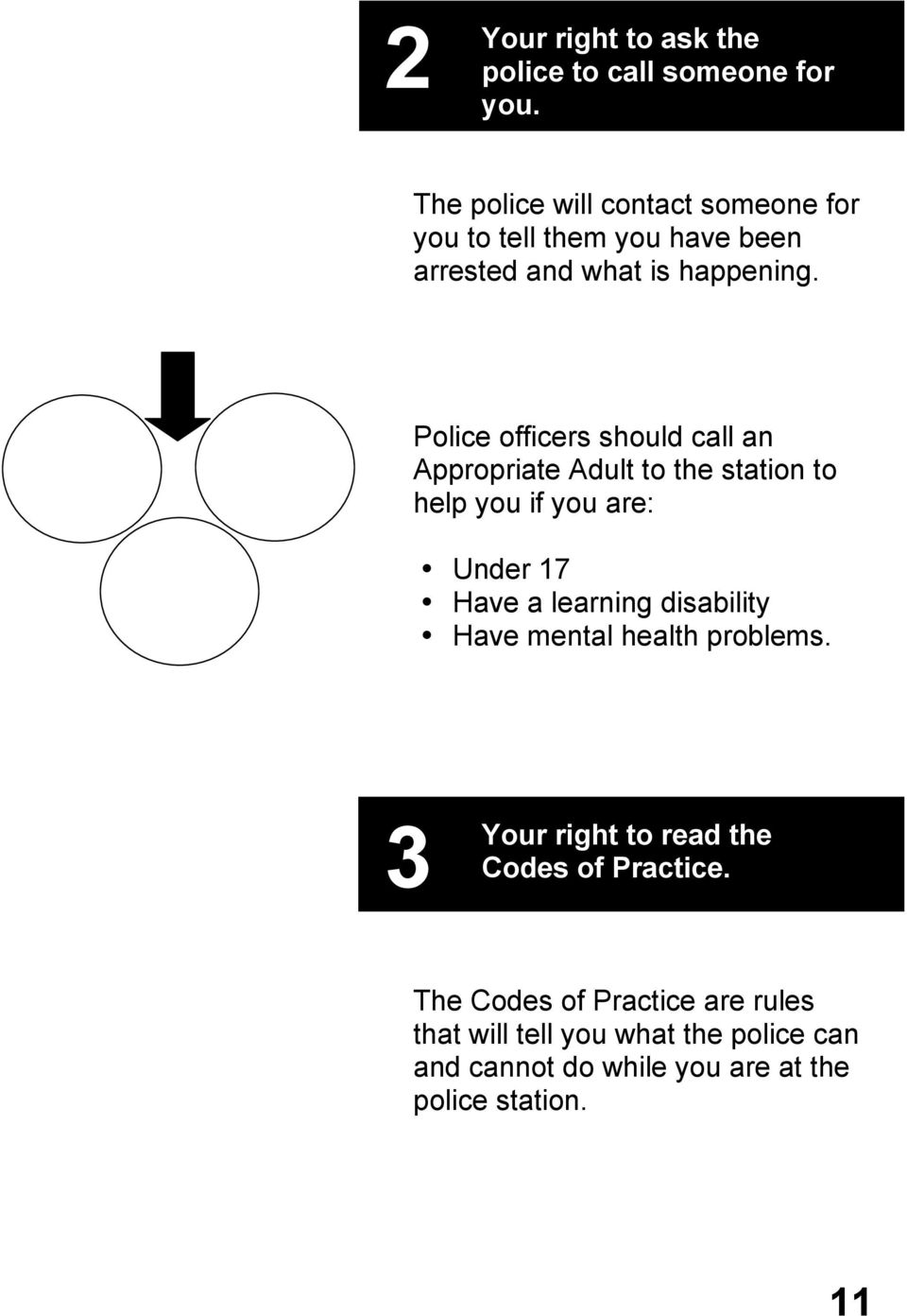 Police officers should call an Appropriate Adult to the station to help you if you are: Under 17 Have a learning