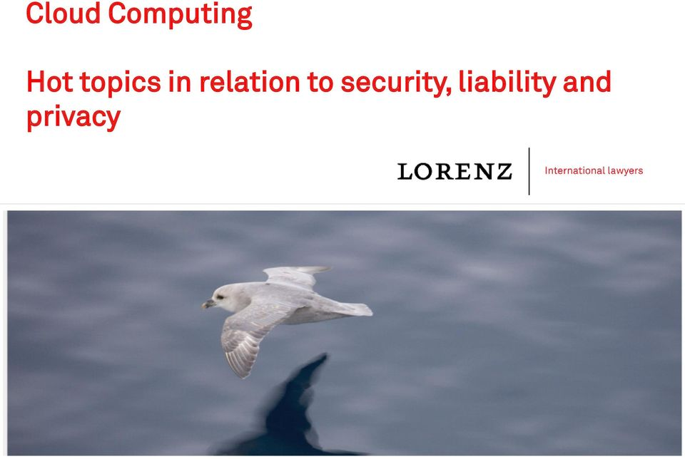 security, liability and