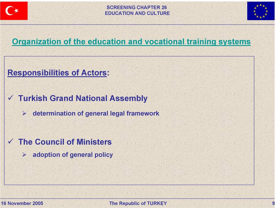 National Assembly determination of general legal