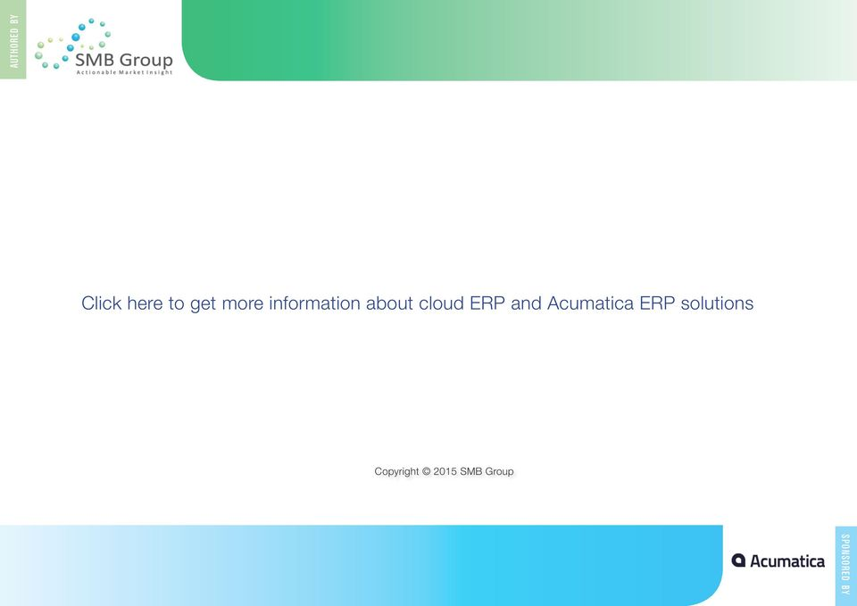 ERP and Acumatica ERP solutions