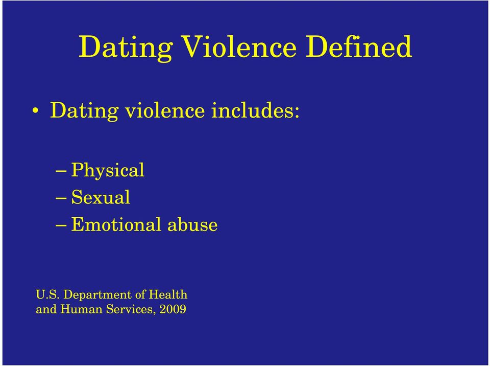 Sexual Emotional abuse U.S.