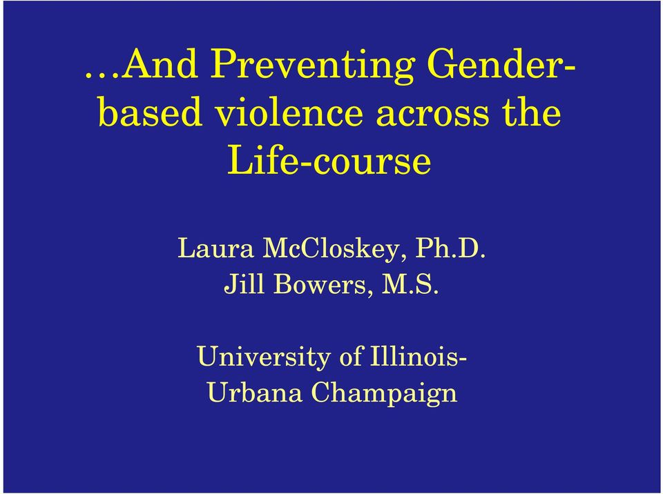 Laura McCloskey, Ph.D.