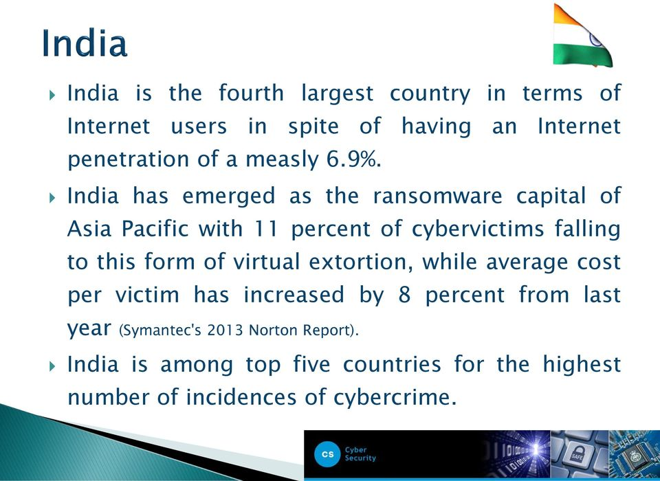 India has emerged as the ransomware capital of Asia Pacific with 11 percent of cybervictims falling to this form