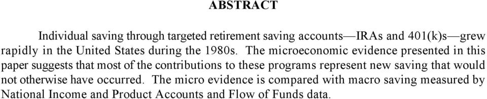 The microeconomic evidence presented in this paper suggests that most of the contributions to these