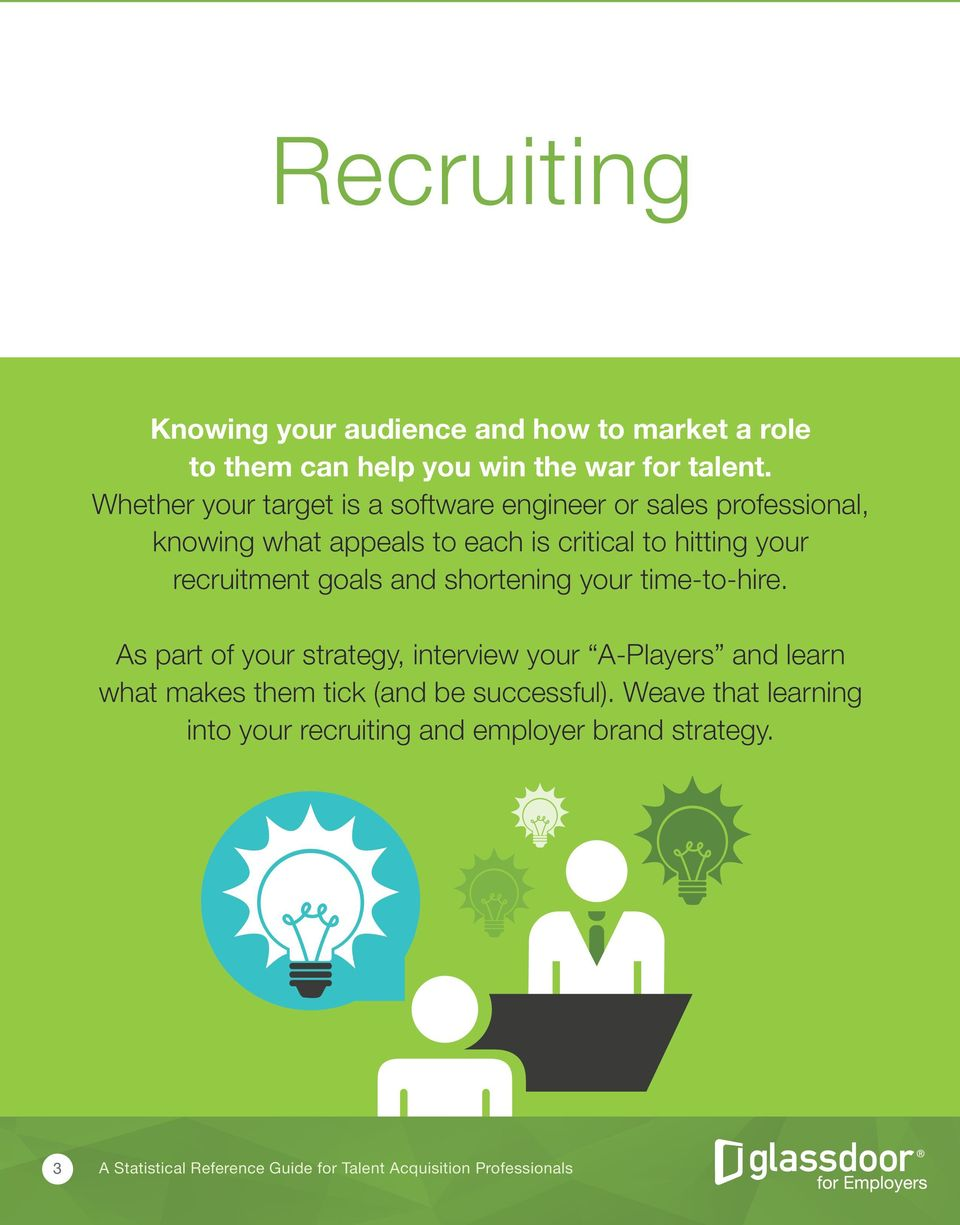hitting your recruitment goals and shortening your time-to-hire.