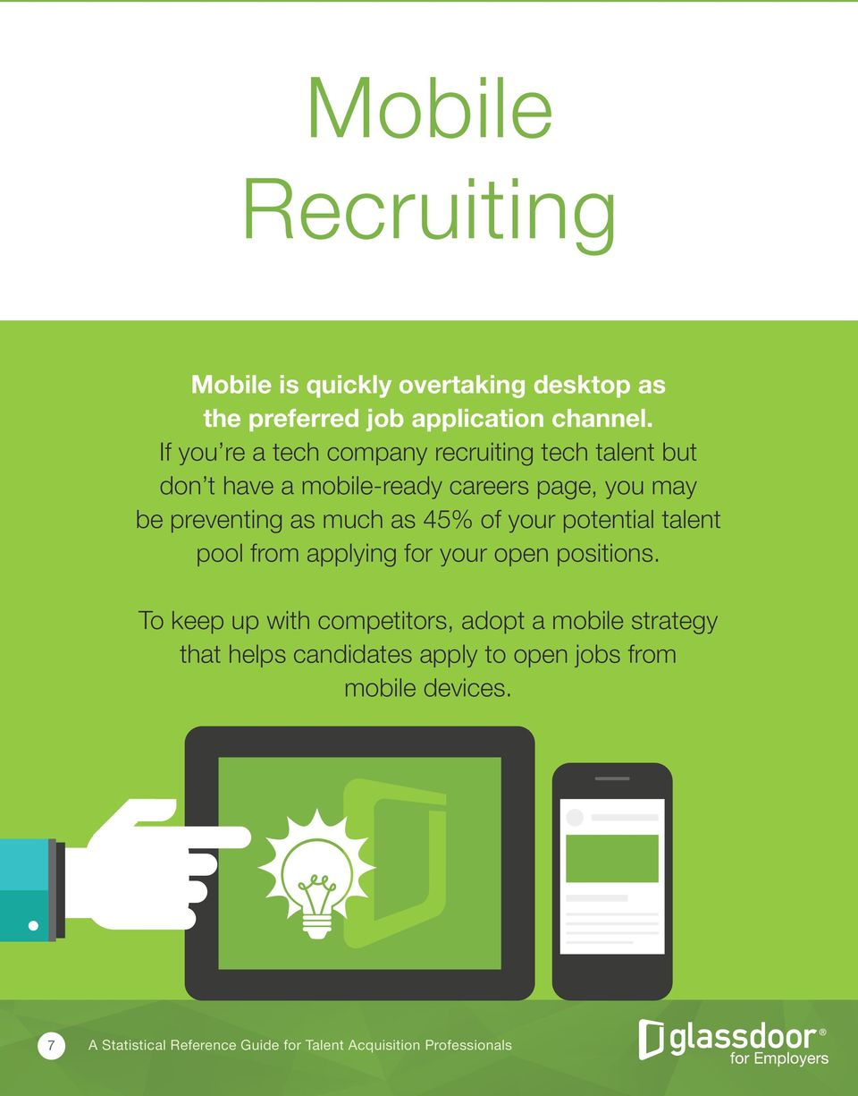 If you re a tech company recruiting tech talent but don t have a mobile-ready careers page, you may be preventing