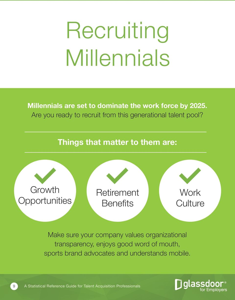 Things that matter to them are: Growth Opportunities Retirement Benefits Work Culture