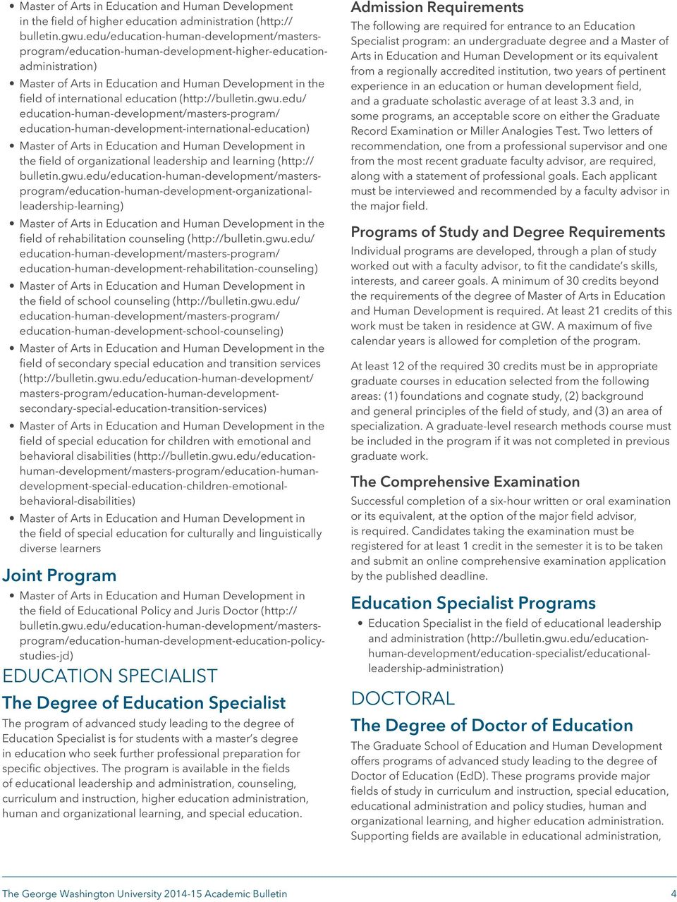 edu/ education-human-development-international-education) the field of organizational leadership and learning (http:// bulletin.gwu.