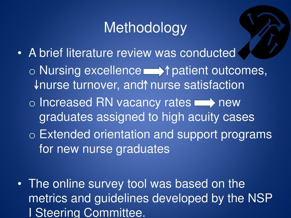 Methodology A brief literature review was conducted o Nursing excellence patient outcomes,