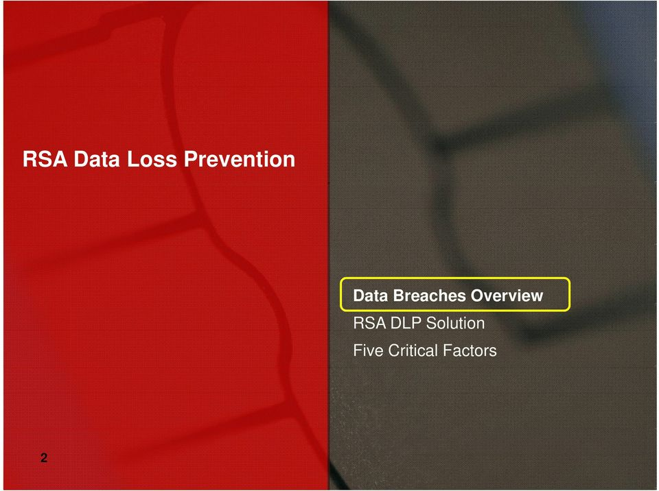 Breaches Overview RSA