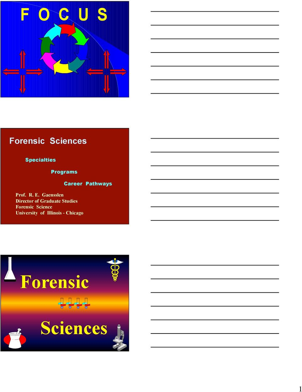 Studies Forensic Science University of