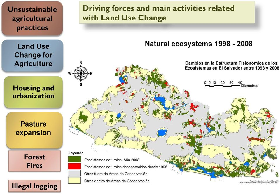 with Land Use Change Natural ecosystems 1998-2008 Housing